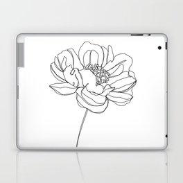 Single flower line drawing - Hazel Laptop & iPad Skin