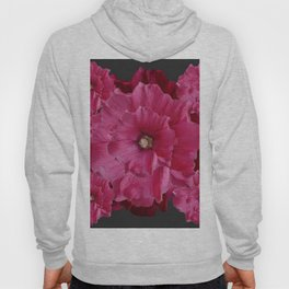 FUCHSIA-PINK  DOUBLE  HOLLYHOCK FLOWERS GARDEN Hoody