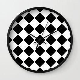 Diamond Black & White Wall Clock