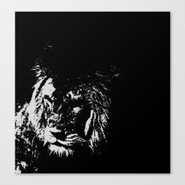 Lion Stencilled Canvas Print