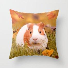 Autumn Cutie Throw Pillow