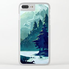 Canadian Mountain Clear iPhone Case