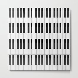 Piano / Keyboard Keys Metal Print