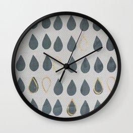Gold Drops Wall Clock