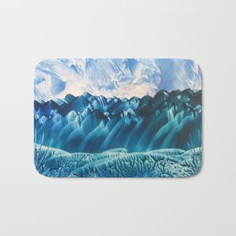 Fantasy Turquoise and Teal Landscape Bath Mat