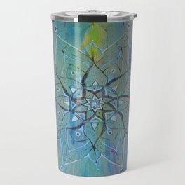 Pyrographic Mandala Travel Mug