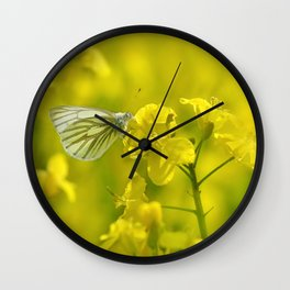 Rape with a butterfly 62 Wall Clock