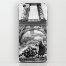 Love Birds (Black and White) iPhone Skin