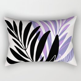 Lavender Olive Branches / Contemporary House Plant Drawing Rectangular Pillow