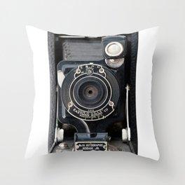 Vintage Autographic Kodak Jr. Camera Throw Pillow