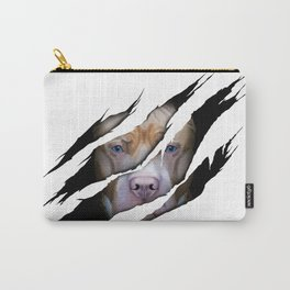 Pit Bull Torn Effect illustration Carry-All Pouch
