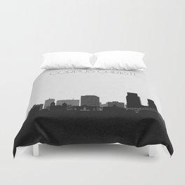 City Skylines: Corpus Christi Duvet Cover
