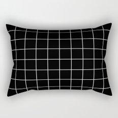 Black White Grid Rectangular Pillow