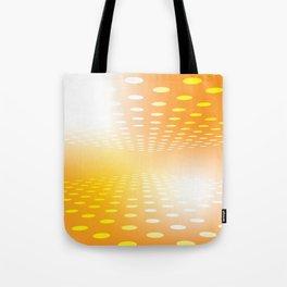 YELLOW DOTS Abstract Art Tote Bag