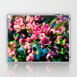 Pink Crab Apple Flowers Laptop & iPad Skin