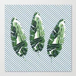 striped leaf Canvas Print