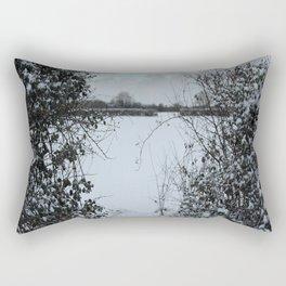 Snowy Heart Rectangular Pillow