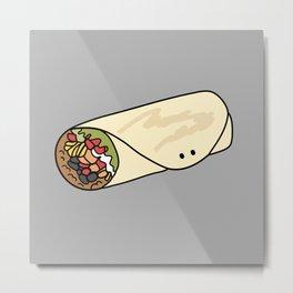 Burrito Friend Metal Print