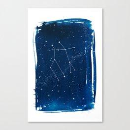 Gemini Zodiac Print Canvas Print