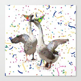 Partying Geese Canvas Print