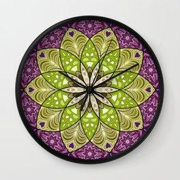 Blooming Flower Mandala Wall Clock