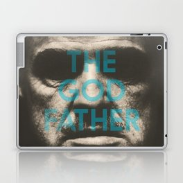 The Godfather, minimalist movie poster, Marlon Brando, Al Pacino, Francis Ford Coppola gangster film Laptop & iPad Skin