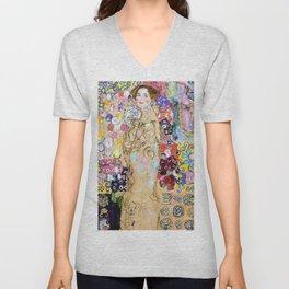 "Gustav Klimt ""Portrait of Maria Munk (unfinished)"" Unisex V-Neck"