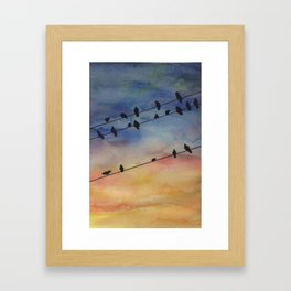 Hanging By A Wire Framed Art Print