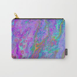 Pink Turquoise Pour Carry-All Pouch