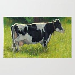 Holstein Dairy Cow in Summer Pasture, No. 2 Rug