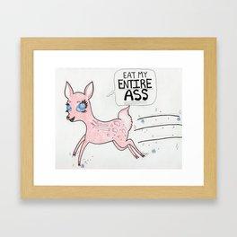 Ass-Eating Deer Framed Art Print