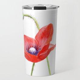 Red Poppy by Teresa Thompson Travel Mug