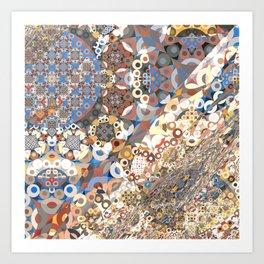 Modern Fractal Abstract 14: Detailism (n+3) Art Print