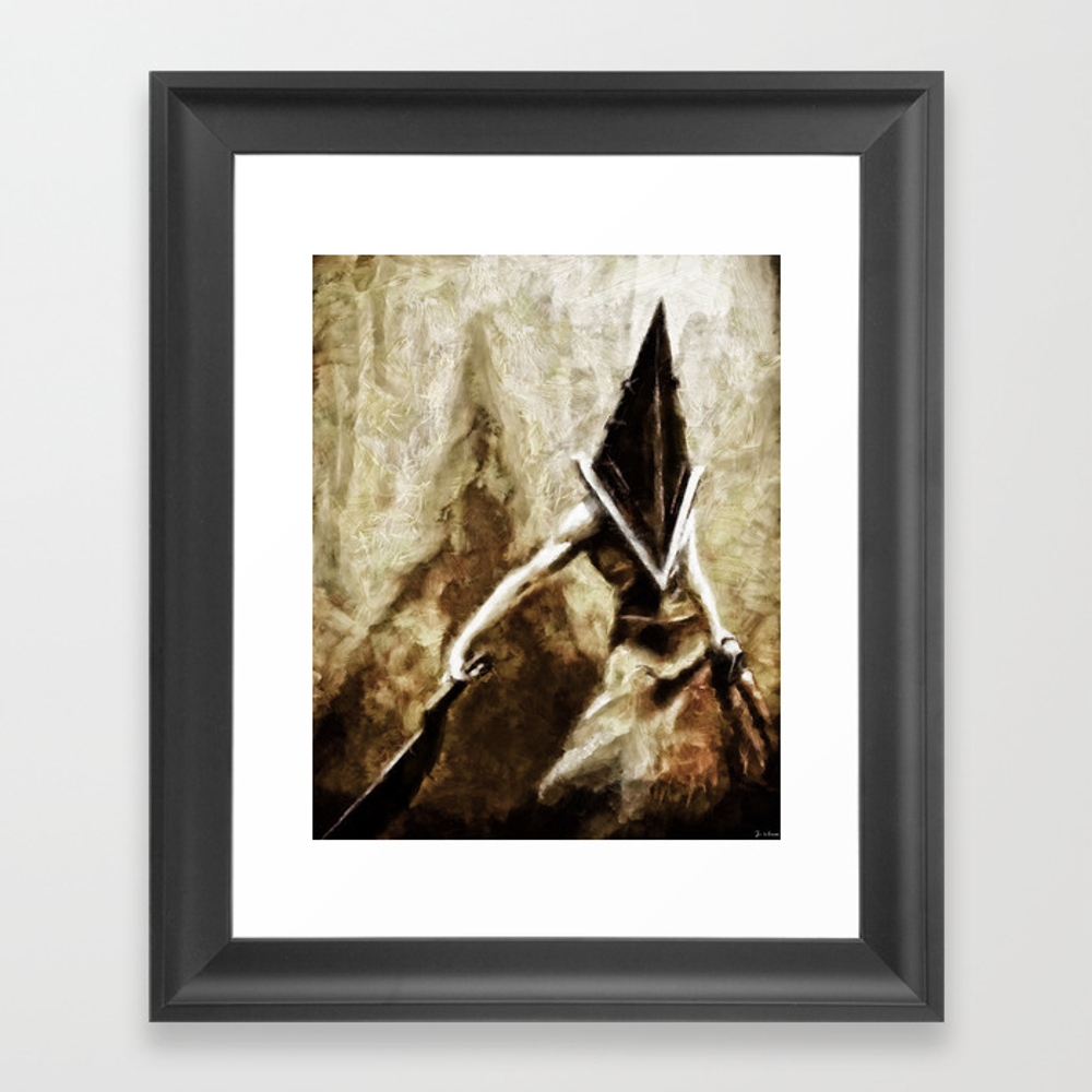 Silent Hill Pyramid Head Framed Art Print by Joemisrasi FRM900100