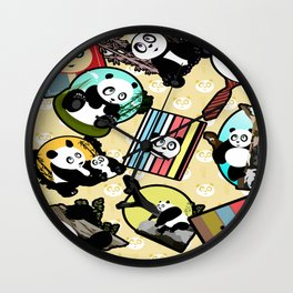 Panda Mix Wall Clock
