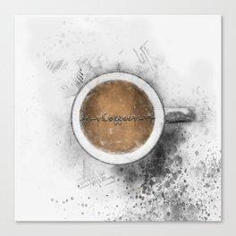 Coffee Heartbeat Canvas Print