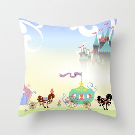 The Royal Entourage Throw Pillow