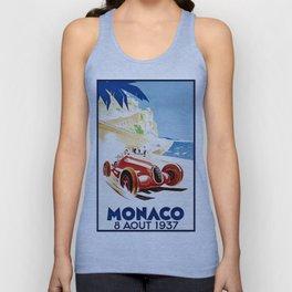 Monaco 1937 Grand Prix Unisex Tank Top
