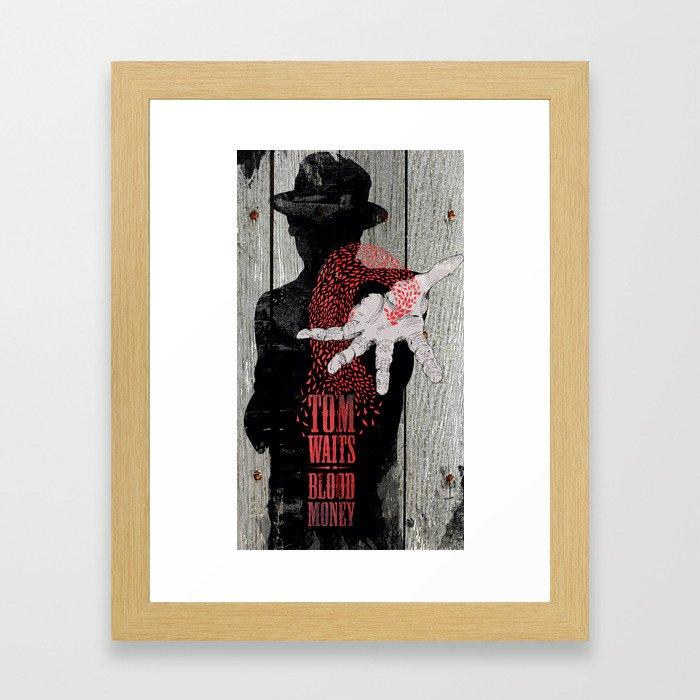 Tom Waits Framed Art Print by joshin | Society6