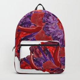 red-purple slime mandala Backpack