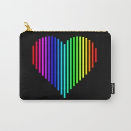 Techno Love Heart Carry-All Pouch