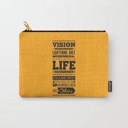 Lab No. 4 Vision Does Usually Dr. Michael Norwood Life Motivational Quotes Carry-All Pouch