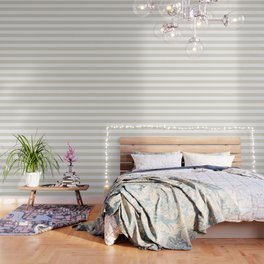 White coffee - solid color - white stripes pattern Wallpaper