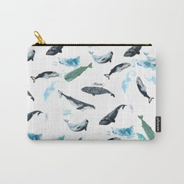 cetacean pattern Carry-All Pouch