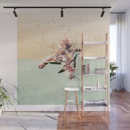 Turtle and bouquet Wall Mural