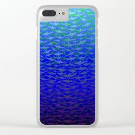 Sharks In Deep Water. Clear iPhone Case