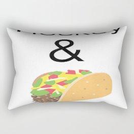 Hockey & Taco (with Taco Clip Art) Rectangular Pillow
