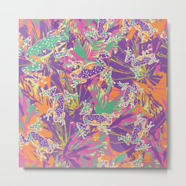 Tropical summer rainforest party Metal Print