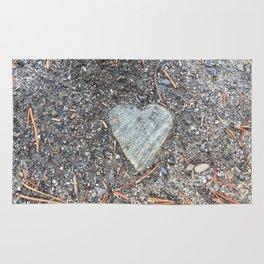 Wild Rock Heart Rug