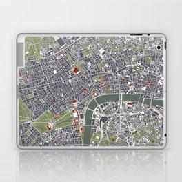 London city map engraving Laptop & iPad Skin